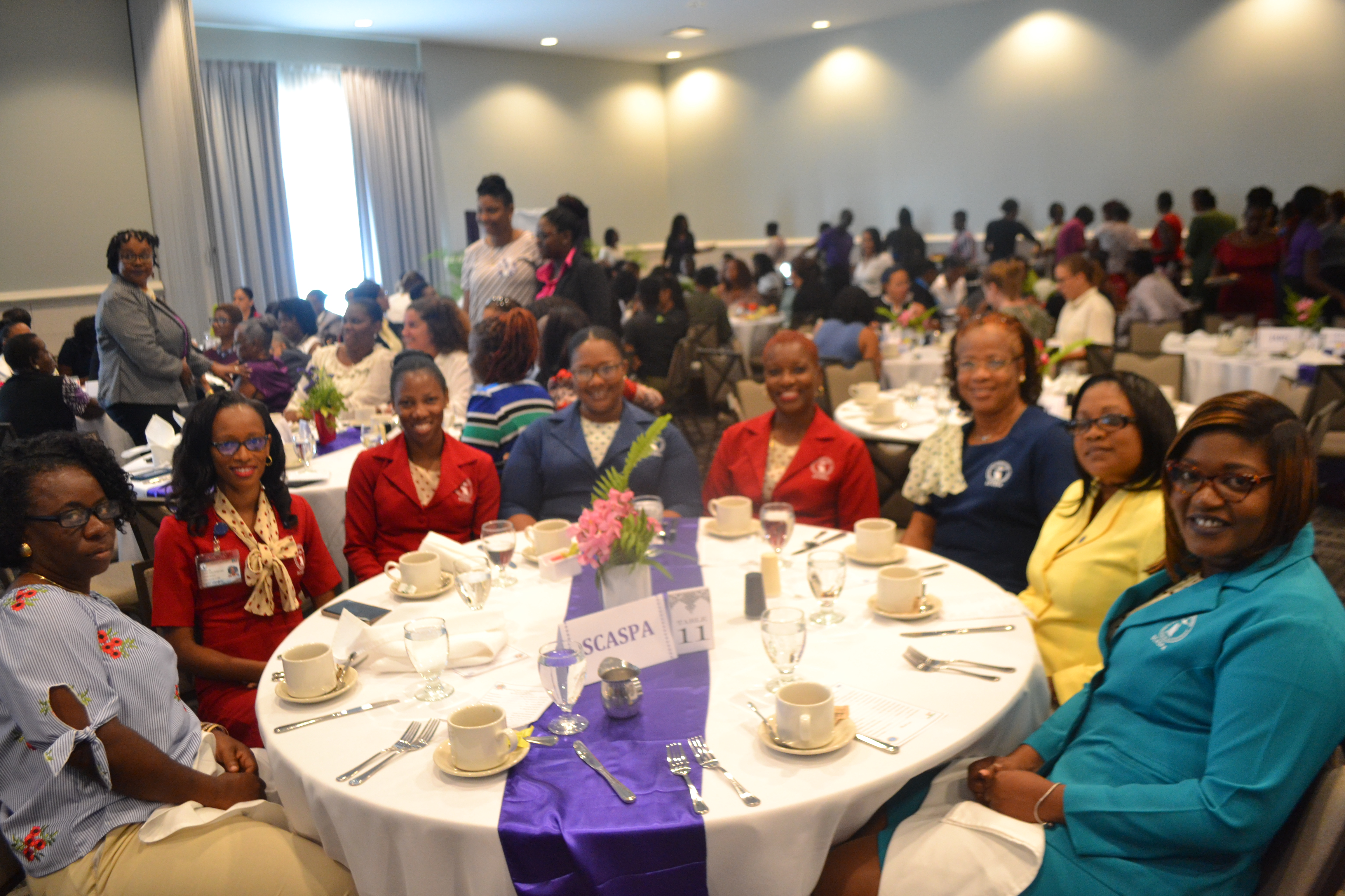 Women of SCASPA shine among powerful women in St. Kitts-Nevis at Ross University's IWD Motivational Breakfast Ceremony!