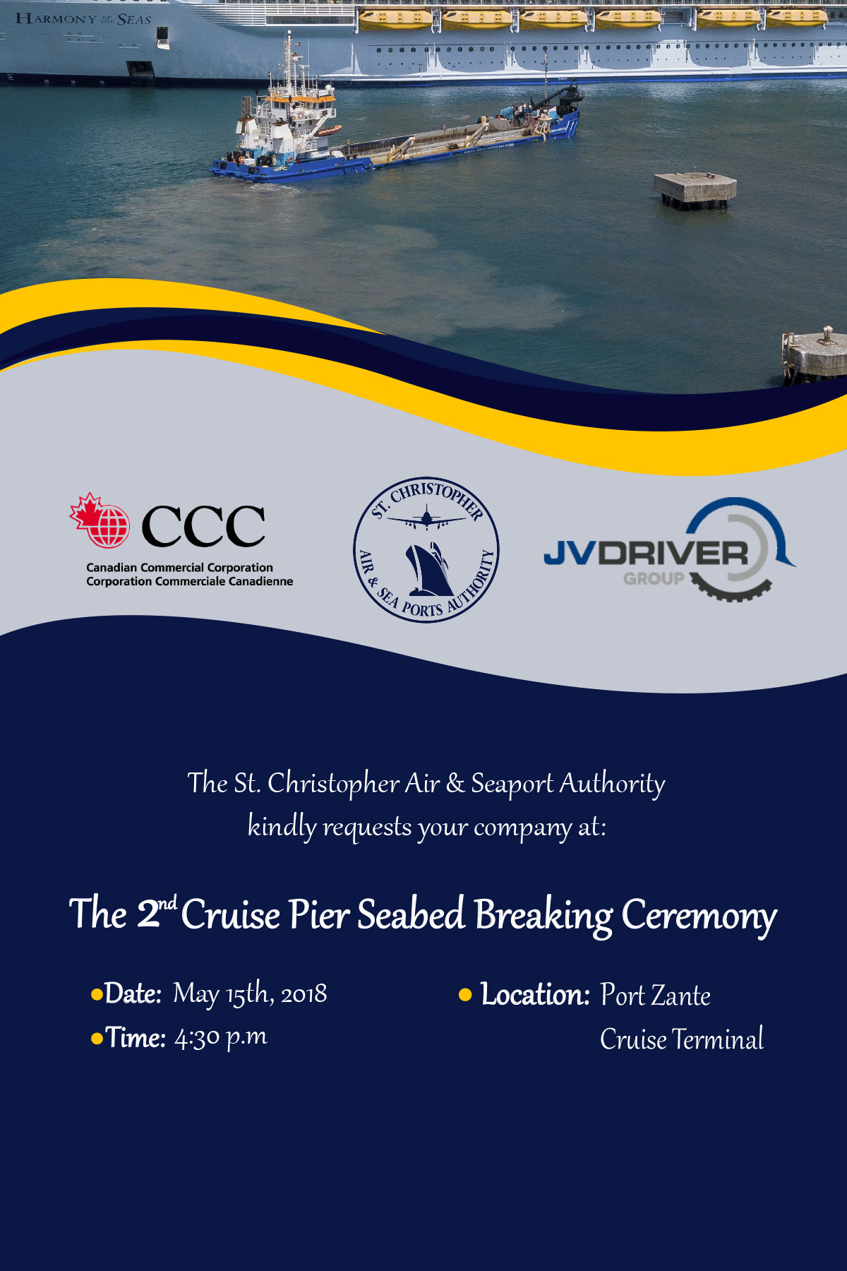 The 2nd Cruise Pier Seabed Breaking Ceremony